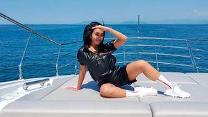 Невеста Роналду показала, как отдыхает с Криштиану на яхте: фото