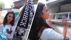 Отстраненная от эфиров хоккейная журналистка сдала на утилизацию шарф «Трактора»