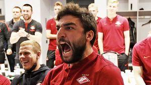 Футболисты «Спартака» эмоционально отпраздновали победу Хабиба: видео командного просмотра