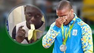 Украинский борец Беленюк отреагировал на видео, где чернокожего мужчину заставляют съесть банан
