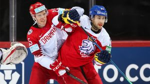 Чехия в серии буллитов обыграла Данию и поднялась на 4-е место в группе