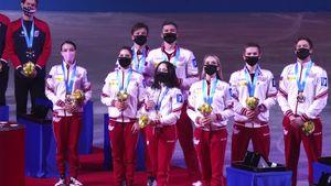 Видео церемонии награждения КЧМ: в Осаке прозвучал гимн России и был поднят флаг