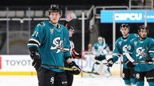 Вэтом сезоне НХЛ сыграло уже 50 хоккеистов изРоссии! За«Сан-Хосе» дебютировал защитник Кныжов