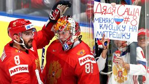 Овечкину предлагали матрешку, словацкие спекулянты никого небоятся. Фото матча Россия— Норвегия