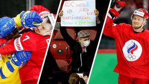 Русских били в лицо, на трибунах появились плакаты в стиле «Камеди клаб» и КВН. Фото матча Россия — Швеция