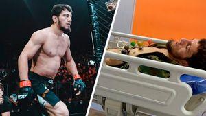 «Было ощущение, что умираю». Чеченский боец ММА Юнусов попал в больницу, но вышел драться из-за злости на соперника