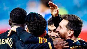 «Барселона» забила 6 голов «Реалу Сосьедад». У Месси и Деста по дублю