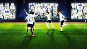 На матче чемпионата Дании установили виртуальную трибуну. Болельщики смотрели футбол через Zoom