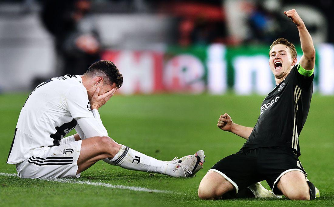 Как «Аякс» побил «Ювентус». Все голы матча ¼ финала Лиги чемпионов