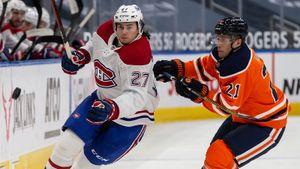 Романов забросил первую шайбу в НХЛ: видео