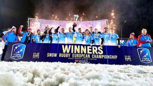 Россия героически победила наЧЕпоснежному регби. Финал заканчивали втроем против пятерых