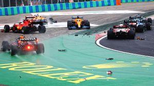 Дикая гонка в Формуле-1: Боттас устроил адскую аварию, победил Окон, Мазепина выбил в боксах 41-летний гонщик