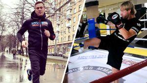 Навальный жал от груди 140 кг, Плющенко занимался боксом. Что будет, если они подерутся