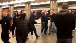 Фанаты ЦСКА подрались сместными вБудапеште: наци-приветствия, закрытие метро икровь полицейских