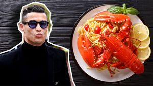 «Ужин Криштиану: рыба, томаты, паста с лобстером и вино». Любимый ресторан Роналду в Италии