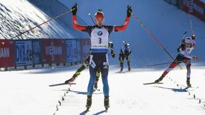 Скандальная победа гениального русского биатлониста Шипулина в Поклюке. Французы на него обиделись