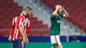 Российские клубы ни разу не победили в 15 матчах группового этапа еврокубков, набрав в совокупности 7 очков