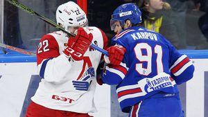 СКА выдал лучший хоккей за месяц, но его хватило только на период. «Локо» побеждает в Питере