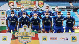 Футболисты «Гремио» вышли на матч в масках. Они требуют, чтобы чемпионат остановили из-за коронавируса