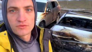 Журналисту Sport24 Дмитрию Егорову сожгли автомобиль. Есть видео с камер с предполагаемым поджигателем