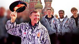 Шмейхель купил матрешку с Гитлером, Фергюсон примерил милицейскую фуражку. Первый визит «МЮ» в Россию: редкие фото