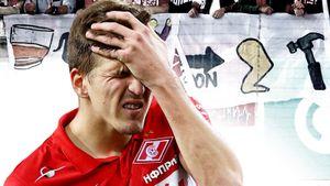 Фанаты «Спартака» вывесили баннеры с угрозами и повернулись спинами, игроки не скрывали стыд: фото