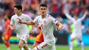 Дания разгромила Уэльс и вышла в 1/4 финала чемпионата Европы