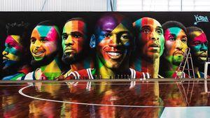 Неймар похвастался баскетбольным залом, расписанным портретами звезд НБА