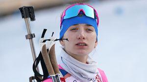 Русская биатлонистка Миронова чуть не выиграла медаль во Франции. Чешка обошла ее на 2 секунды