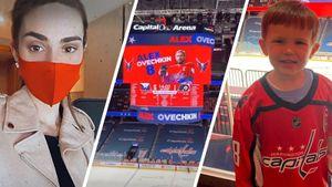 Жена и сын Овечкина впервые в сезоне побывали на игре «Вашингтона»: фото и видео