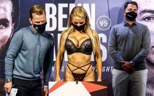 Австралийская боксерша пришла на взвешивание в сексуальном нижнем белье: видео