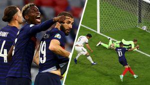 Сумасшедший матч Франции и Германии: на игру залетел парашютист, Рюдигер укусил Погба, Хуммельс забил в свои