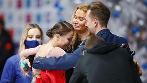 Тутберидзе пустила слезу после золотого проката Щербаковой. Она выиграла чемпионат России, переболев пневмонией