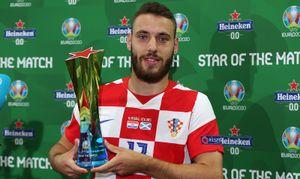 Влашич признан лучшим игроком матча Хорватия— Шотландия