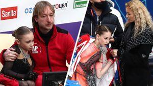 Как Тутберидзе и Плющенко ухаживали за своими юниорками после прокатов: новые фото финала Кубка России