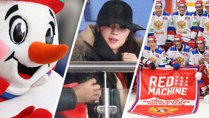 Загитова привела на хоккей папу, гимнастка Мамун — сына, Третьяк веселился со Снеговиком. Россия — Финляндия: фото