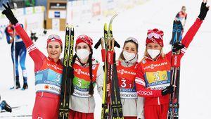 Русские лыжницы впервые за 16 лет выиграли серебро чемпионата мира в эстафете. На Олимпиаде может быть золото