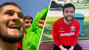 «Не только драться умеем». Хабиб сыграл в футбол с игроками «Спартака» и победил: видео