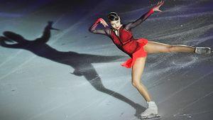 Дуэт Губерниева и Транькова, красно-черное платье Косторной. Фото шоу учеников Тутберидзе и Мозер