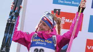 Давидова выиграла индивидуальную гонку на ЧМ по биатлону, Миронова — 5-я