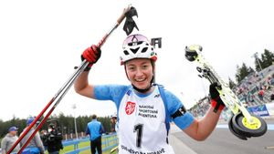 Шевченко выиграла гонку преследования на ЧМ по летнему биатлону. Гореева— 4-я