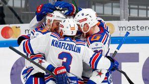 СКА в 3-м овертайме нанес поражение ЦСКА в 5-м матче серии полуфинала Кубка Гагарина