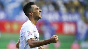 Эран Захави наколотил 26 голов в22 матчах вКитае. Его последний гол взорвет вам мозг