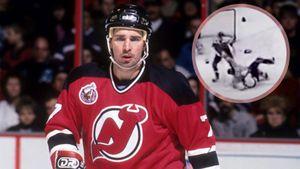 Уложил двоих одним ударом. Легендарная драка советского хоккеиста Касатонова с канадским гигантом Линдросом: видео