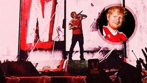 Эд Ширан спел на стадионе «Спартака» в футболке сборной России по футболу