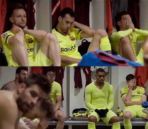 «Барселона» впервые показала, что происходило враздевалке после 0:4 от«Ливерпуля» ивылета изЛЧ