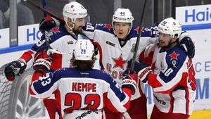 ЦСКА победил СКА в 3-м матче полуфинала Кубка Гагарина и повел в серии 3-0